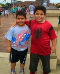 Johnathan with his little brother Joshua