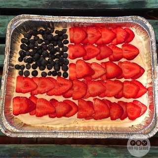 low carb 4th of July cake
