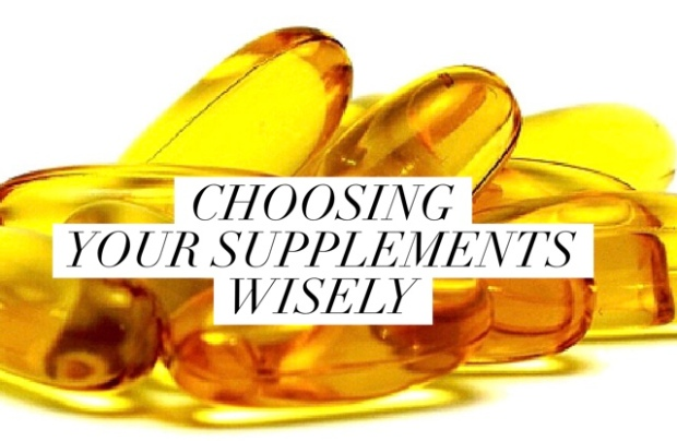 picture of supplements with the title choosing your supplements wisely