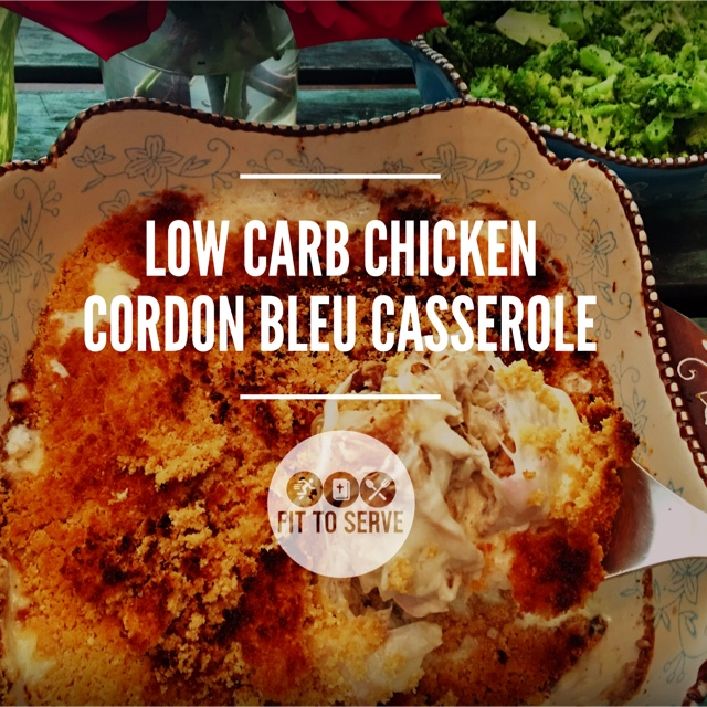 low carb chicken cordon bleu