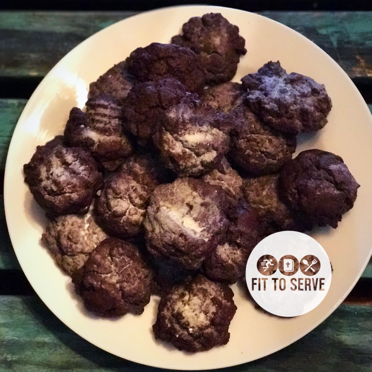 keto triple chocolate crinkle cookies